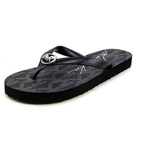 - Michael Kors Jet Set Rubber Flip Flops Black Size 7 MK Womens
