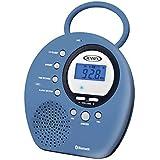 Jensen Bluetooth Wireless Waterproof Shower Speaker Radio with Bluetooth/NFC/Clock + Digital AM/FM Radio with Speaker Hands-Free Speakerphone