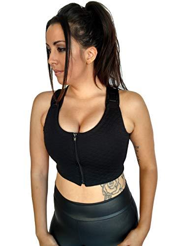 - Brilliant Contours Post Surgical Comfort Compression Sports Bra: Evening Cloak Butterfly - XS Black
