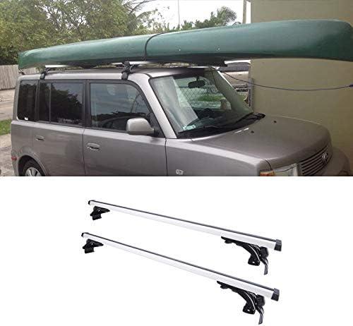 "2pc 48/"" Window-Frame-Mount Roof Rack Cross Bar For Toyota//Scion//Mazda//Mitsubishi"