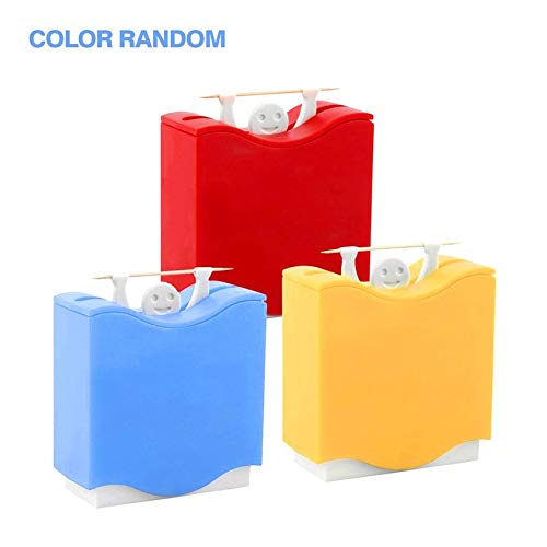 Weight Lifter Automatic Toothpick Holder Bucket Home Bar Table Accessories (Weight Lifter Holder Toothpick)