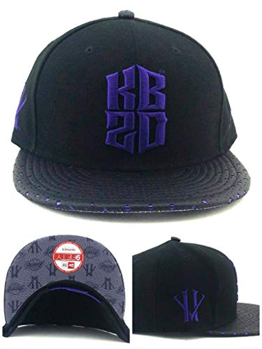80ed07fceb087 Era Los Angeles Lakers 9Fifty Kobe Bryant KB20 Villian Black Snapback Hat  Cap M L