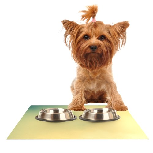 Kess InHouse Richard Casillas Let's Fly Away Feeding Mat for Pet Bowl, 24 by 15-Inch