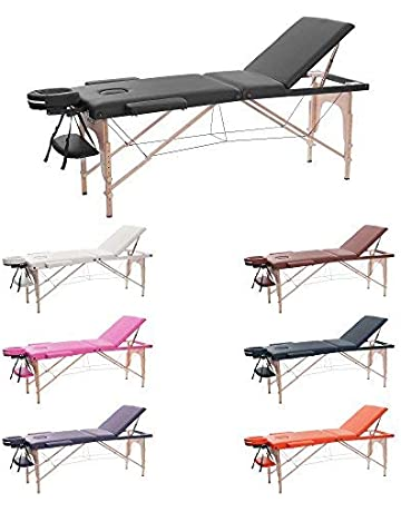 H-ROOT Mesa de Masaje de 3 Secciones Ligera Portátil Camilla de Masaje Mesa Terapeuta
