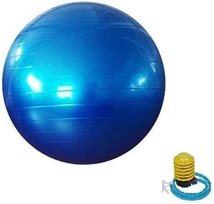 كرة يوغا سويس كور مقاومة للانفجار للياقة البدنية وقاعات الرياضة المنزلية والنادي الرياضي، 65 سم، ازرق