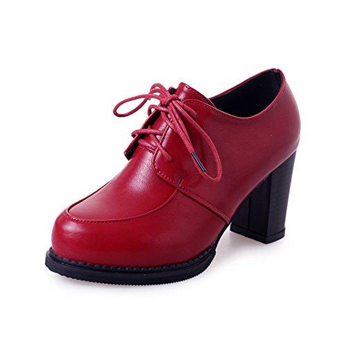 Original Hostel Small Leather Shoes,Koreanische Version von British Womens Shoes,Vintage Dick Heel Schuhe-A Fußlänge=23.3CM(9.2Inch)