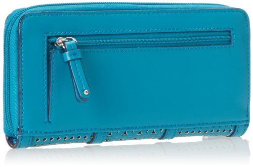 Nine West Show Stopper Slg Zip Around Wallet,Splash,One Size