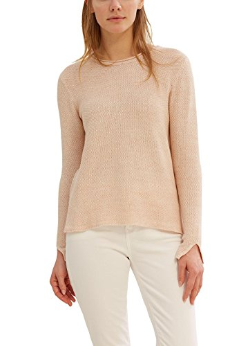 Esprit Wool - ESPRIT Women's 037EE1I008 Long Sleeve Jumper - Pink - UK 14