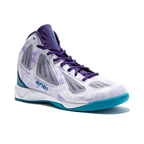 Image of the AND1 Mens Xcelerate Basketball Shoe 8 Lavender/Teal