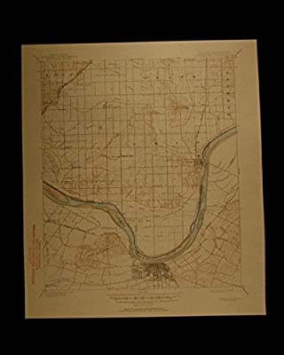 Owensboro Indiana Kentucky vintage 1950 original USGS Topographical chart