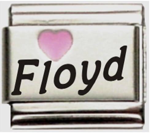 Love my Man on pink enamel 9mm stainless steel italian charm bracelet link new
