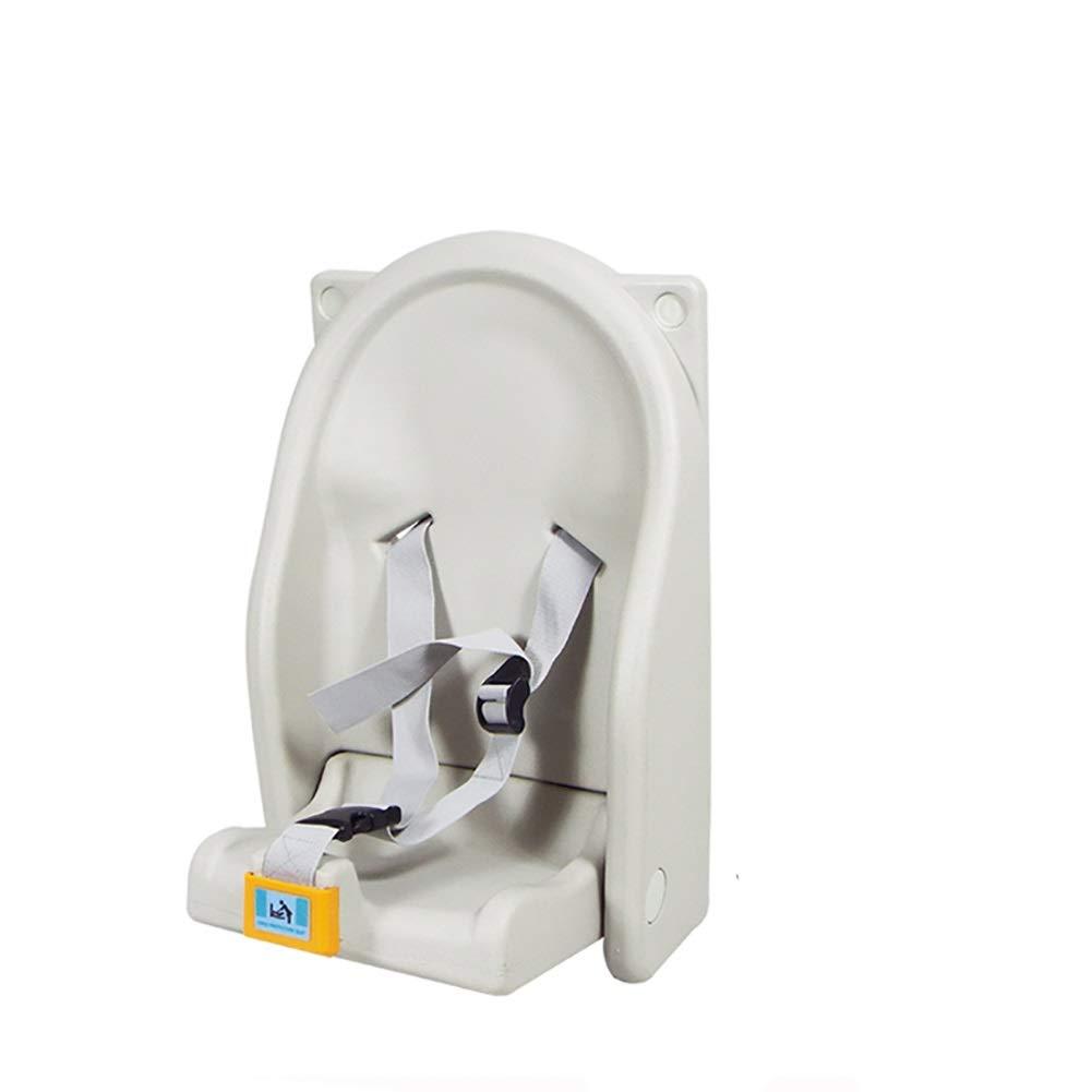 チェンジテーブル ベイビーチェンジステーションウォールマウント、子供用安全ベルト付きシート、折りたたみ式乳児ケアステーション(トイレ) (Color : White, Size : 31x34.5x51cm) 31x34.5x51cm White B07TTXF7ZD
