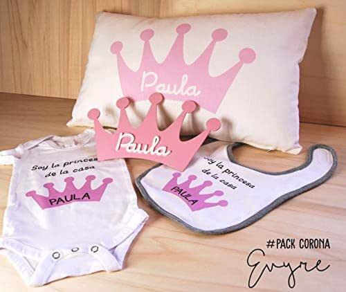 Canastilla bebé personalizada con placa decorativa, funda cojín ...