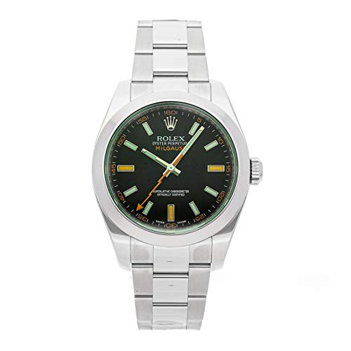 Rolex Milgauss Mechanical (Automatic) Black Dial Mens Watch 116400V (Certified Pre-Owned) ()