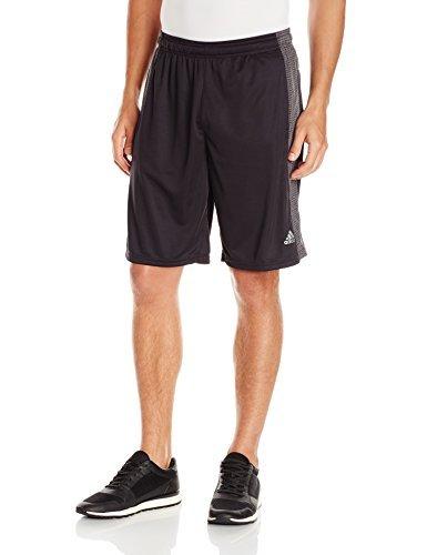 adidas Performance Men's Aeroknit Shorts, Black/Black, Small