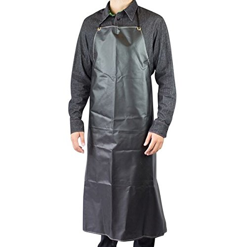 Black Rubber 35'' Apron, Mid Weight