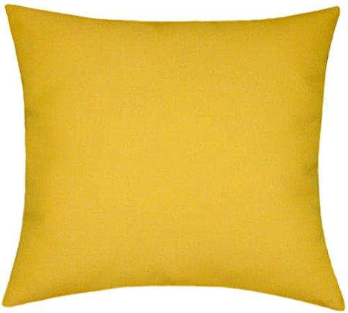 Sunbrella Sunflower Indoor/Outdoor Solid Pillow (Sunbrella Sunflower)