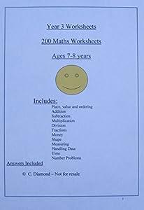 math worksheet : 200 year 3 maths worksheets ks2  pdf file to print out amazon co  : Ks2 Maths Worksheets To Print