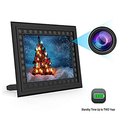 Hidden Spy Camera Photo Frame,Portocam Picture Frame Nanny Cam with Night Vision PIR Motion Activated Video Recorder Covert DVR with 2 Year Long Standby time by JMC
