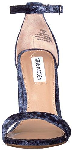 Steve Alla Tacco Blue Caviglia E Laccio Velluto Largo Sandalo Madden Con v8Xgv