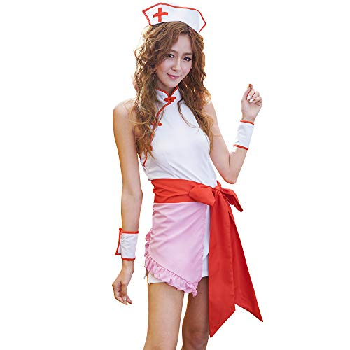YOMORIO Womens Cute Nurse Costumes Lingerie Japanese Anime