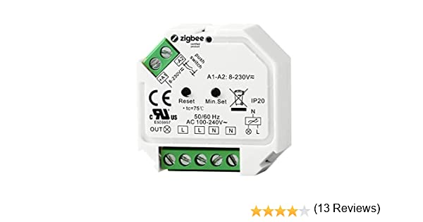 Interruptor de regulaci/ón en l/ínea ZigBee de 230 V para actualizar un interruptor normal con control de voz Alexa Google Assistant y automatizaci/ón del hogar.