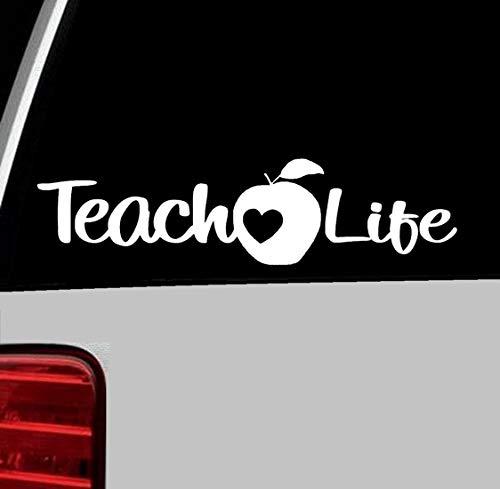 - Bluegrass Decals A1119 Teach Life Teacher Sticker Vinyl Decal for Car Truck Suv Van Window or Laptop Dry Eraser Board