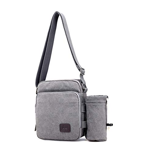 Messenger Men's Multifunctional Canvas Casual Cross Satchel Defeng Bags Grey Body Shoulder Bag Sport avYpqpx