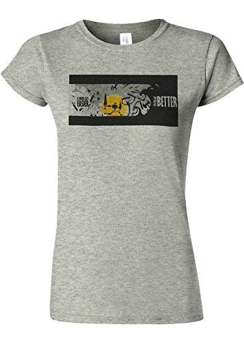 仮定、想定。推測ドラッグ抑圧It Never Gets Easier You Get Better Novelty Sports Grey Women T Shirt Top-S