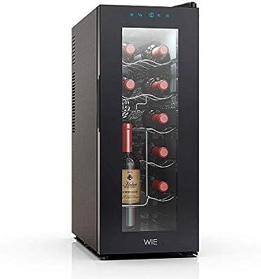 WIE Vinoteca de 12 botellas con Capidad 32L, 6 Estanterías, Mini ...