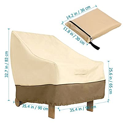 WINOMO Veranda Patio Lounge Chair Cover Outdoor Armchair Sofa Cover Waterproof Furniture Covers 35.4x35.4x32.7 inch: Home & Kitchen