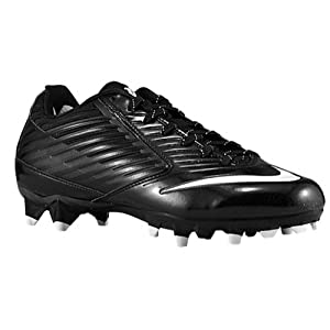 Nike Mens Vapor Speed Low Td Molded Football Cleats, Blk/Wht, SZ 12.5