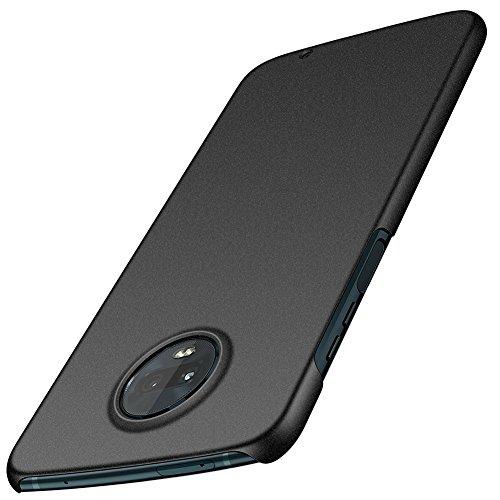 ORNARTO Moto Z3 Play Case,Z3 Case,Thin Fit Shell Premium Hard Plastic Matte Finish Non Slip Full Protective Anti-Scratch Cover Cases for Motorola Z3/Z3 Play(2018) 6.0 Frosted Black