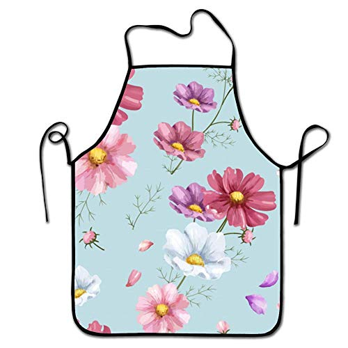 Funny Apron for Men & Women - Perfect for Kitchen BBQ Grilling Barbecue Cooking Baking- Flower 1 ()