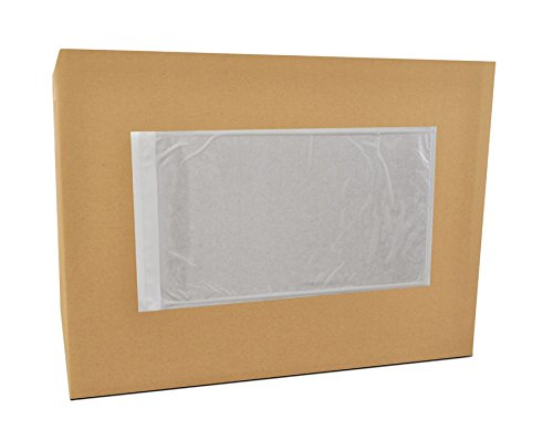 5.5x10 Packing Slip Envelope Pouches, Mailing Bag Sleeves, Clear White, 5.5 x 10 inch, Self Adhesive, 1000 Pack by PackagingSuppliesByMail