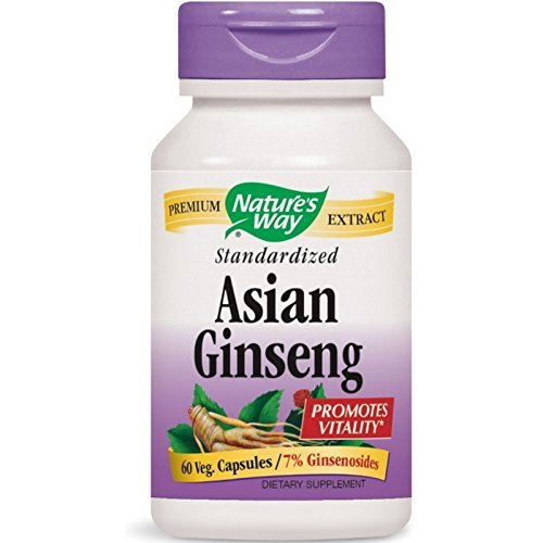 Nature's Way Standardized Asian Ginseng 60 ea ( Pack of 3) by Nature's Way