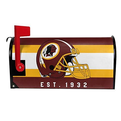 (Gdcover Custom Washington Redskins Garden Magnetic Mailbox Cover for Outdoor Decor)