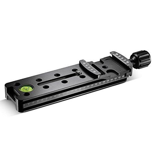 Neewer 140/mm piastra a sgancio rapido Nodal professionale della chiusura lampo per fotocamera con Arca-Swiss compatibile