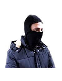 Schonfeld Micro Fleece Lined Balaclava Facemask with Velcro Closure - One Size Black