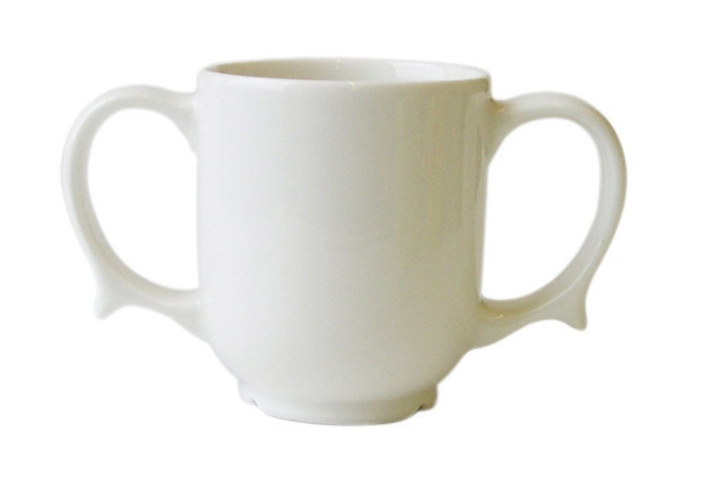 Two Handled Mug Dignity White (Eligible for VAT relief in the UK ...