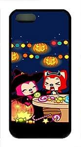 iPhone 5 5S Case A Raccoon Celebrate Halloween TPU Custom iPhone 5 5S Case Cover Black by icecream design