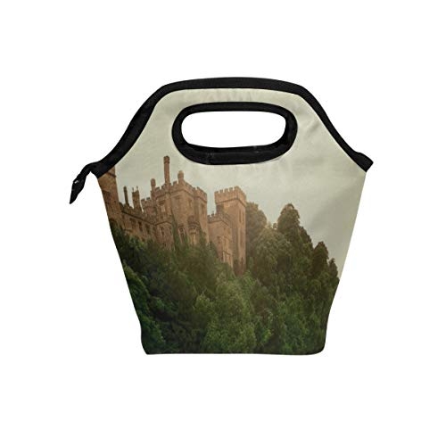 Ireland Lismore Castle - Rh Studio Lismore Castle County Waterford Ireland Lunch Tote Bag Insulated Cooler Thermal Reusable Bag Lunch Box Portable Handbag