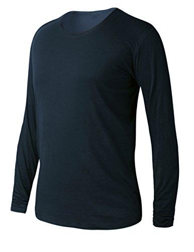 Match K G Mens Basic T-shirts Series Crewneck/Long sleeve/Slim fit #ST801(US 2XL (Tag size 4XL),T603_Blue)
