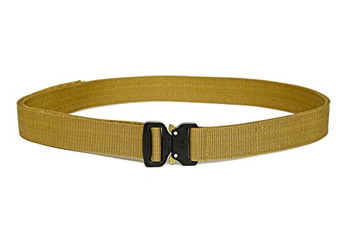 XTAC Quick-Release EDC Belt - Heavy Duty Stiffened 2-Ply Nylon Gun Belt for Concealed Carry CCW Holsters Pouches Military Combat Duty Wilderness Hunting Survival ()