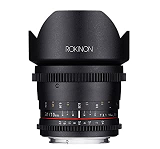 Rokinon DS10M-C 10mm T3.1 Cine Wide Angle Lens for Canon EF-S Digital SLR (B00SN97F2G) | Amazon price tracker / tracking, Amazon price history charts, Amazon price watches, Amazon price drop alerts