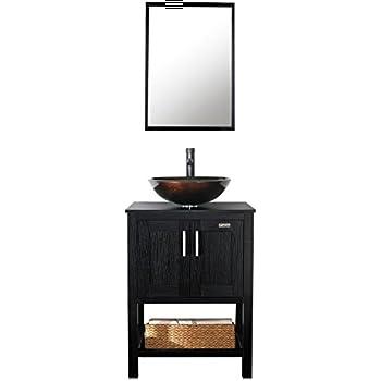24 Quot Bathroom Vanity Cabinet White Tech Stone Quartz Top