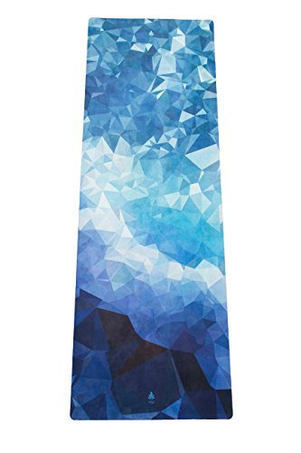Mala HYBRID Premium Natural Rubber Yoga Mat ''Poly Wave'' with Microfiber Towel Surface - Sweat absorbing for Hot Yoga, Bikram, Pilates, Vinyasa, Crossfit, Fitness and other Workouts - Extra Long by Mala Yoga