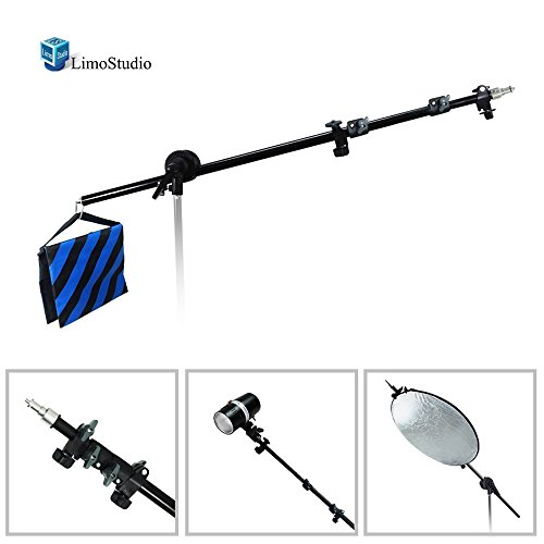 Heavy Duty Boom Arm (LimoStudio Photo Video Studio Lighting Boom Arm with Sandbag, AGG289)