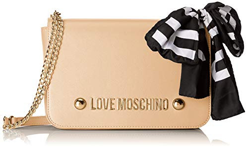 Love Moschino Women's Borsa Soft Grain Pu Shoulder Bag Brown (Cammello)