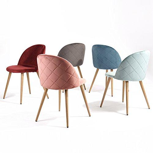 Greenforest Living Room Leisure Chair Wood Legs Velvet Fabric Cushion Seat Mental Wood Legs